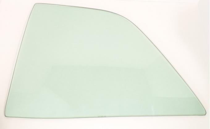 AMD Quarter Glass, Green Tint, LH, 66-67 Chevelle 2DR Sedan (Post) 795-3466-TSL