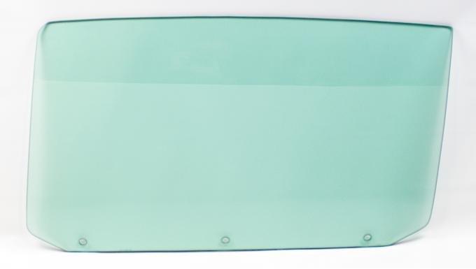 AMD Door Glass w/ 3 Holes, Green Tint, LH, 65 GM A-Body Convertible 550-3464-3TVL