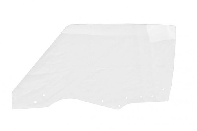 AMD Door Glass w/ 8 Holes, Clear, LH, 70-72 GM A-Body Coupe & Convertible; 70-72 Grand Prix 550-3470-8CL