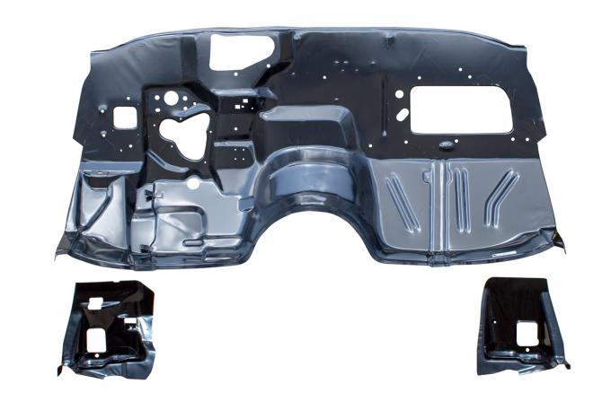 AMD Firewall w/ Frame Brackets, 68-72 Chevelle (w/o A/C) (Excludes Convertible) 370-3468-S