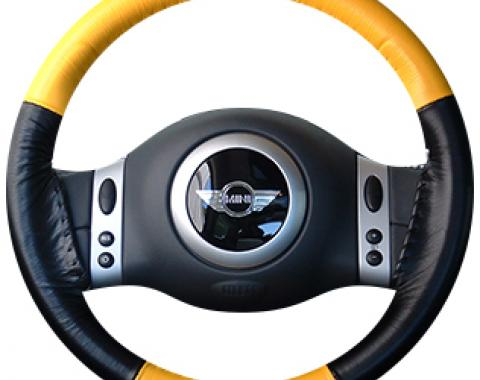 Wheelskins Genuine Leather Steering Wheel Cover, Eurotone Two-Color