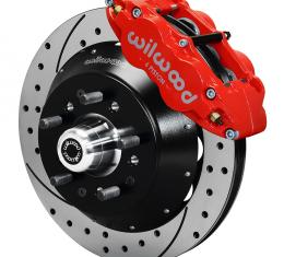 Wilwood Brakes Forged Narrow Superlite 6R Big Brake Front Brake Kit (Hub) 140-9804-DR