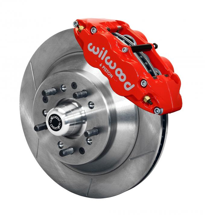 Wilwood Brakes Forged Narrow Superlite 6R Big Brake Front Brake Kit (Hub and 1PC Rotor) 140-12278-R