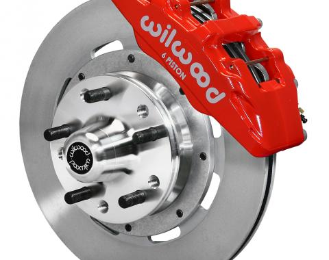 Wilwood Brakes Forged Dynapro 6 Big Brake Front Brake Kit (Hub) 140-10510-R
