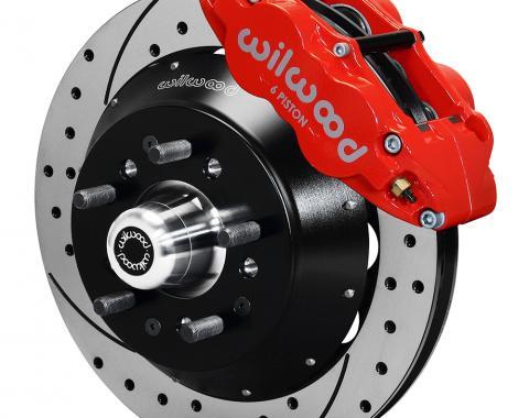 Wilwood Brakes Forged Narrow Superlite 6R Dust-Seal Big Brake Front Brake Kit (Hub) 140-15409-DR
