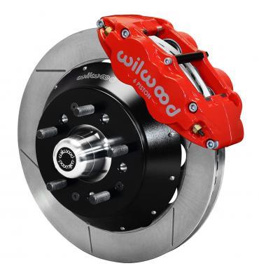 Wilwood Brakes Forged Narrow Superlite 6R Dust-Seal Big Brake Front Brake Kit (Hub) 140-15409-R