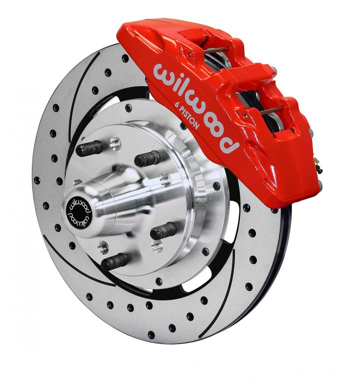 Wilwood Brakes Forged Dynapro 6 Big Brake Front Brake Kit (Hub) 140-10738-DR
