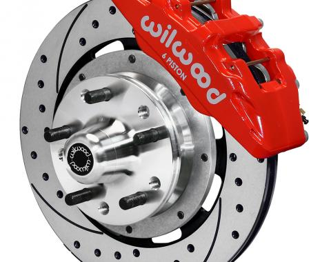 Wilwood Brakes Forged Dynapro 6 Big Brake Front Brake Kit (Hub) 140-10510-DR