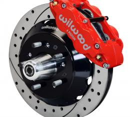 Wilwood Brakes Forged Narrow Superlite 6R Big Brake Front Brake Kit (Hub) 140-10486-DR