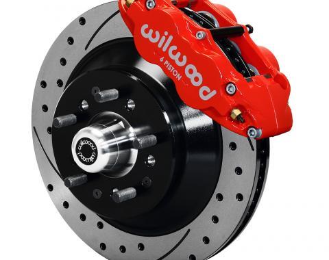 Wilwood Brakes Forged Narrow Superlite 6R Big Brake Front Brake Kit (Hub and 1PC Rotor) 140-12271-DR