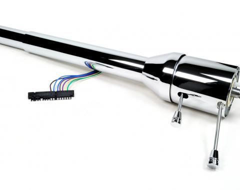 Ididit CUSTOM 1967-68 Camaro Chevelle GTO Tilt Floor Shift Steering Column - Chrome