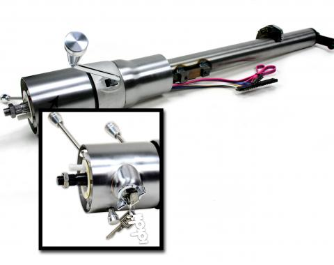 ididit CUSTOM 1969-72 Chevelle El Camino Tilt Column Shift with Ignition - Paintable Steel 1540699910