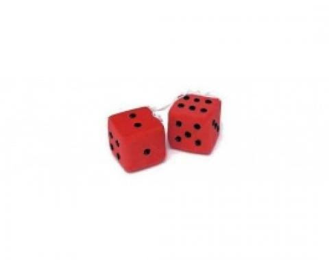 Chevy Fuzzy Dice, Red
