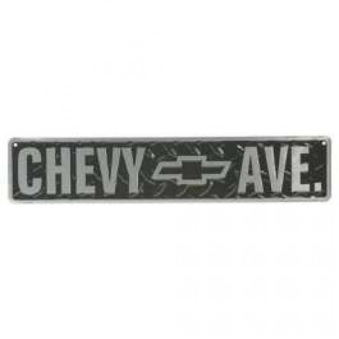Chevy Avenue Diamond Plate Aluminum Sign
