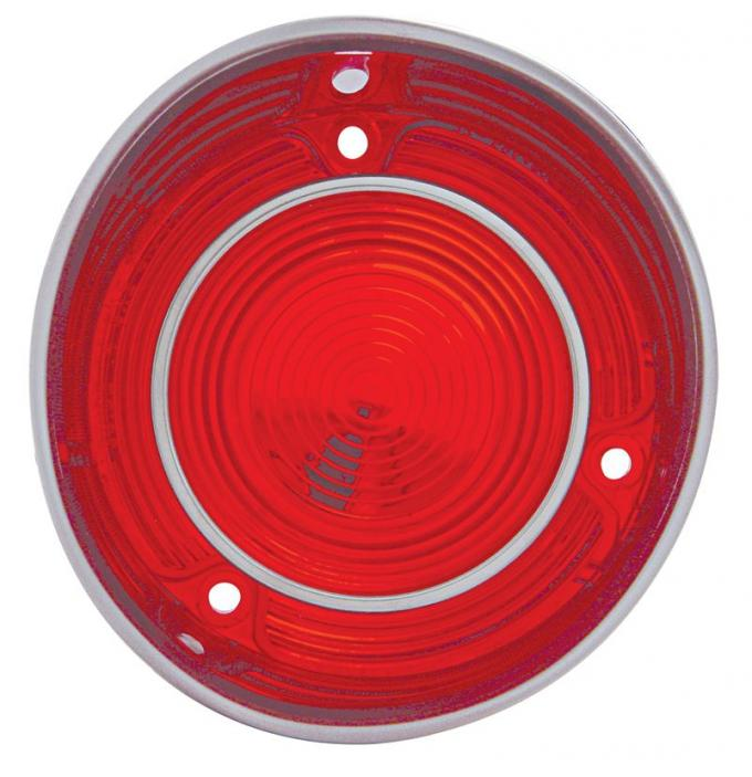 "United Pacific Plastic Tail Light Lens w/Stainless Steel Trim For 1971 Malibu & Chevelle ""SS"" - L/H CH030L"