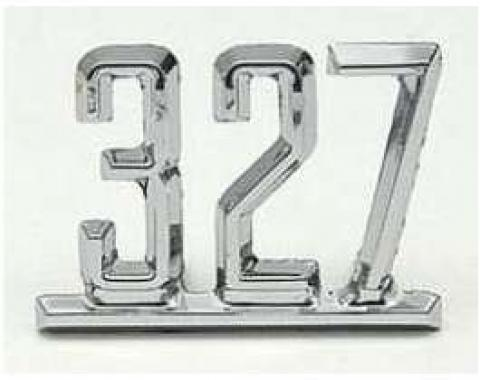 Full Size Chevy Front Fender Emblem, 327ci, 1965-1967