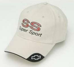 Chevy Cap, With Embroidered SS & Super Sport Script, Bone