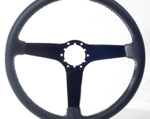 Corvette Volante OE Series Steering Wheel, with Black Spokes & Leather Grip, 1980-1982