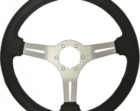 Volante S6 Sport Steering Wheel, with Brushed Spokes & Leather Grip
