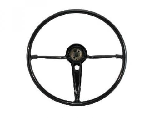Full Size Chevy Volante OE Series Resto-Mod Steering Wheel, Black, 1955-1956