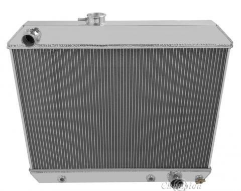 Champion Cooling 4 Row All Aluminum Radiator Made With Aircraft Grade Aluminum MC1678