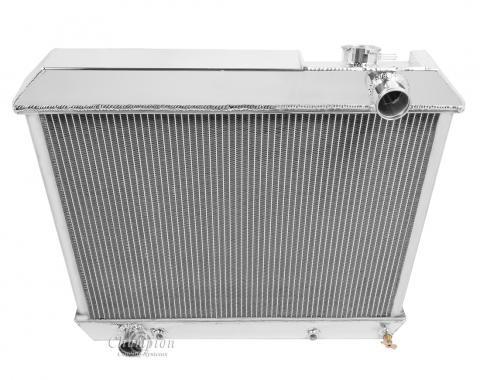 Champion Cooling 4 Row All Aluminum Radiator Made With Aircraft Grade Aluminum MC3284