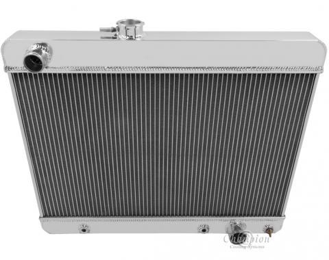 Champion Cooling 4 Row All Aluminum Radiator Made With Aircraft Grade Aluminum MC1680