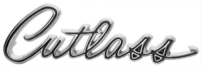 Cutlass Fender Script Emblem, 1967