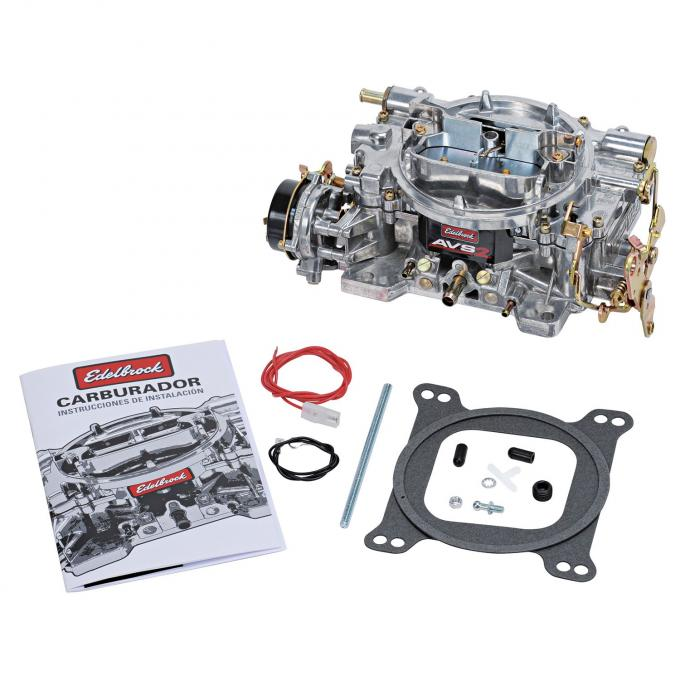 Edelbrock AVS2 Carburetor, 650 CFM with Electric Choke, Non EGR, Satin Finish 1906