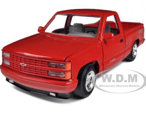 1992 Chevrolet SS 454 Pickup Truck Red 1/24 Diecast Model