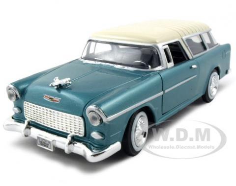 1955 Chevrolet Nomad Green 1/24 Diecast Model Car