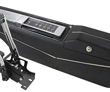 RestoParts Console, KIT, 1971-72 Chevelle/El Camino, Turbo Hydramatic, w/Shifter, Assembled S6872MASMB