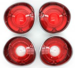 Trim Parts 1971 Chavelle Tail Light or Back Up Light Lens Kit, Set of 4 A4400K