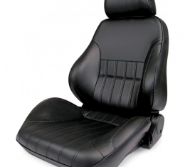 Procar Smoothback Rally Seat, with Headrest, Left, Black Leather