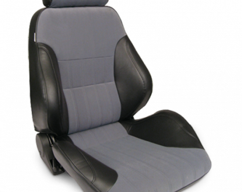 Procar Smoothback Rally Seat, with Headrest, Right, Velour
