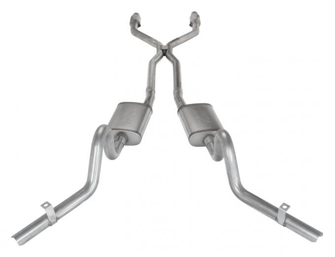 Pypes Crossmember Back w/H-Pipe Exhaust System 78-88 EL Camino Exc SS Dual Side Exit Behind Rear Tire 2.5 in Intermediate And Tail Pipe Violator Muffler/Hardware Incl Tip Not Incl Catalytic Converter Incl Exhaust SGG940VE