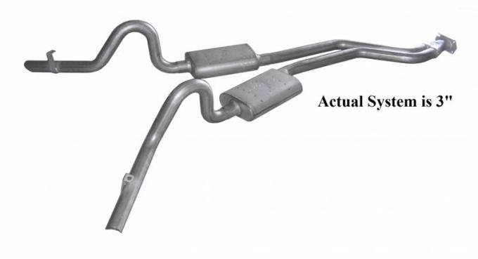 Pypes Cat Back Exhaust System 78-88 GM G-Body Split Rear Dual Exit 3 in Intermediate Pipe And Tailpipe Race Pro Mufflers/Hardware Incl Tip Not Incl Natural 409 Stainless Steel Exhaust SGG51R
