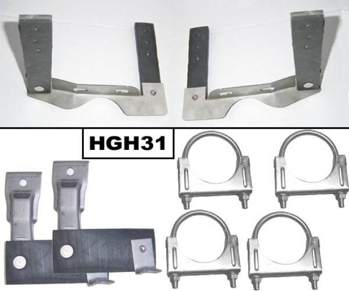 Pypes Exhaust System Hanger Kit 68-72 Chevelle Incl Tailpipe Hangers/Muffler Hangers/(4) U Clamps Natural 304 Stainless Steel Exhaust HGH31