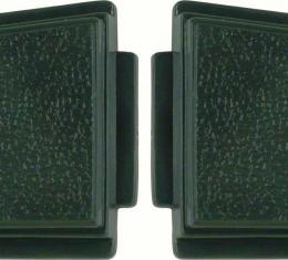 OER 1969-70 Standard Steering Wheel Horn Buttons Dark Green (pair) K213DG