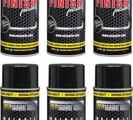 OER Black Wrinkle Finish Paint Case of 6 - 16 Oz Aerosol Cans *K89549