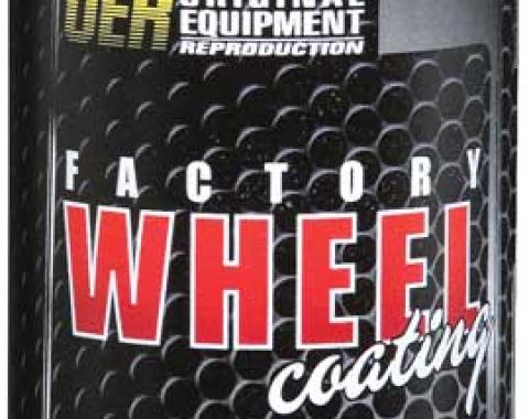 "OER Argent Silver / Green ""Factory Wheel Coating"" Rally Wheel Paint 16 Oz Can K89325"