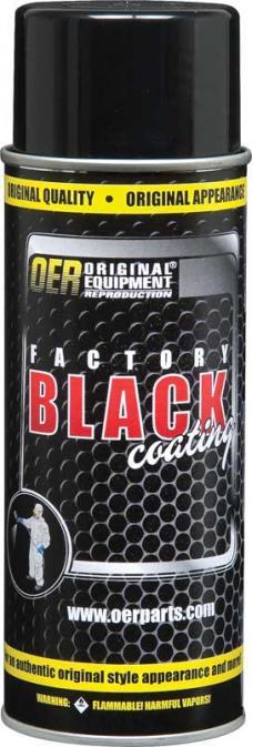"OER ""Factory Black"" Low Gloss Black Paint - 16 Oz Aerosol Can K89541"