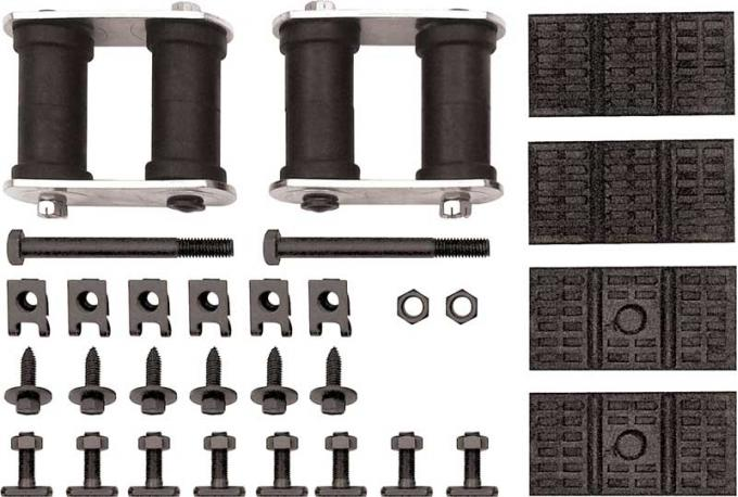 OER 1967-79 GM Rear Leaf Spring Installation Kit - Mono Leaf - Various Models R360