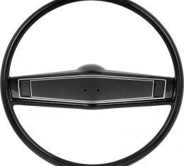 OER 1969-70 Steering Wheel Kit - Black - Black Steering Wheel Shroud *R3492