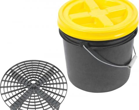 OER Grit Guard Basic Wash System 3.5 Gallon Black Pail with Yellow Lid K89740
