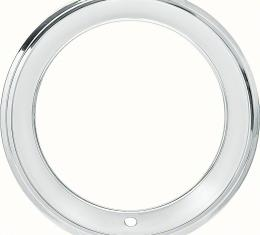 """OER 15"""" Stainless Steel 2-3/8"""" Deep Step Lip Rally Wheel Trim Ring for Reproduction Wheels 39017081"""