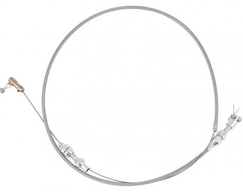 OER Stainless Steel Throttle Cable 36'' Cut-To-Fit - Stainless 153665A
