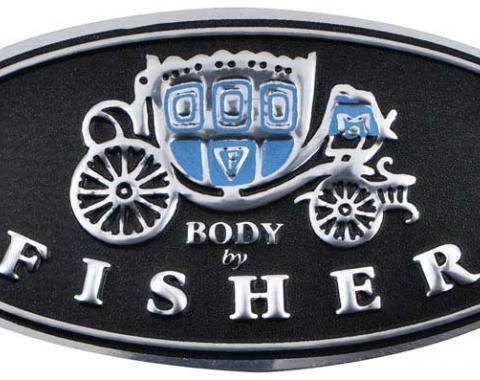 OER 1962-81 Door Sill Plate Emblem - Embossed DS300