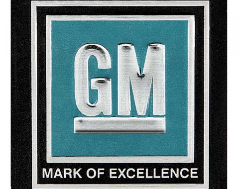 "OER 1964-67 GM Cars / Trucks - ""GM Mark of Excellence"" Seat Belt Buckle Decal - Aqua 9980011"