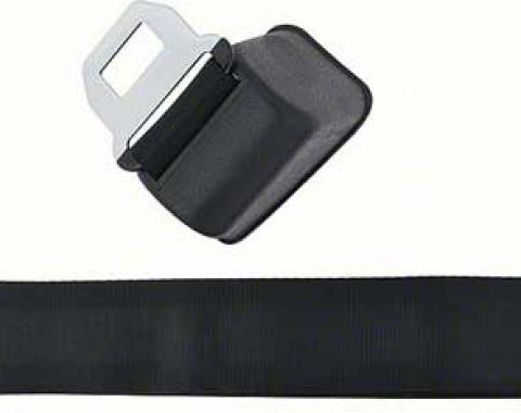 OER 1968-72 GM Retractable Seat Belts (Pair) - Black *881317